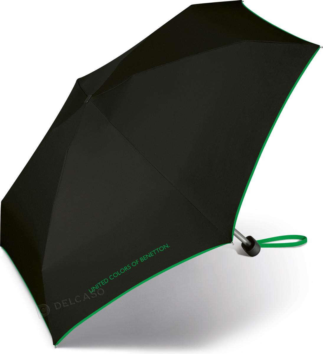 Parasol kieszonkowy Benetton Ultra Mini czarny