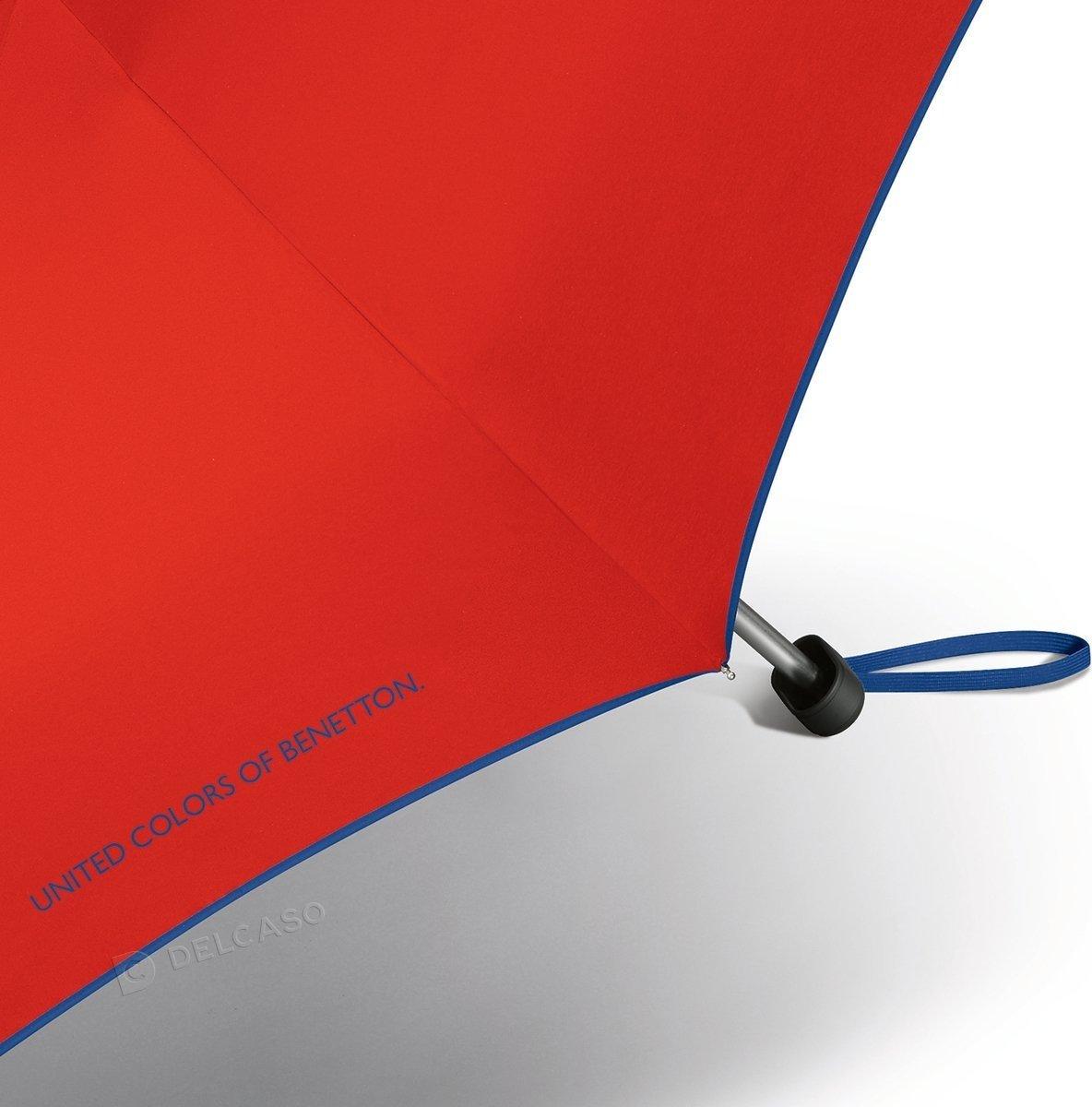 Parasol kieszonkowy Benetton Ultra Mini czerwony