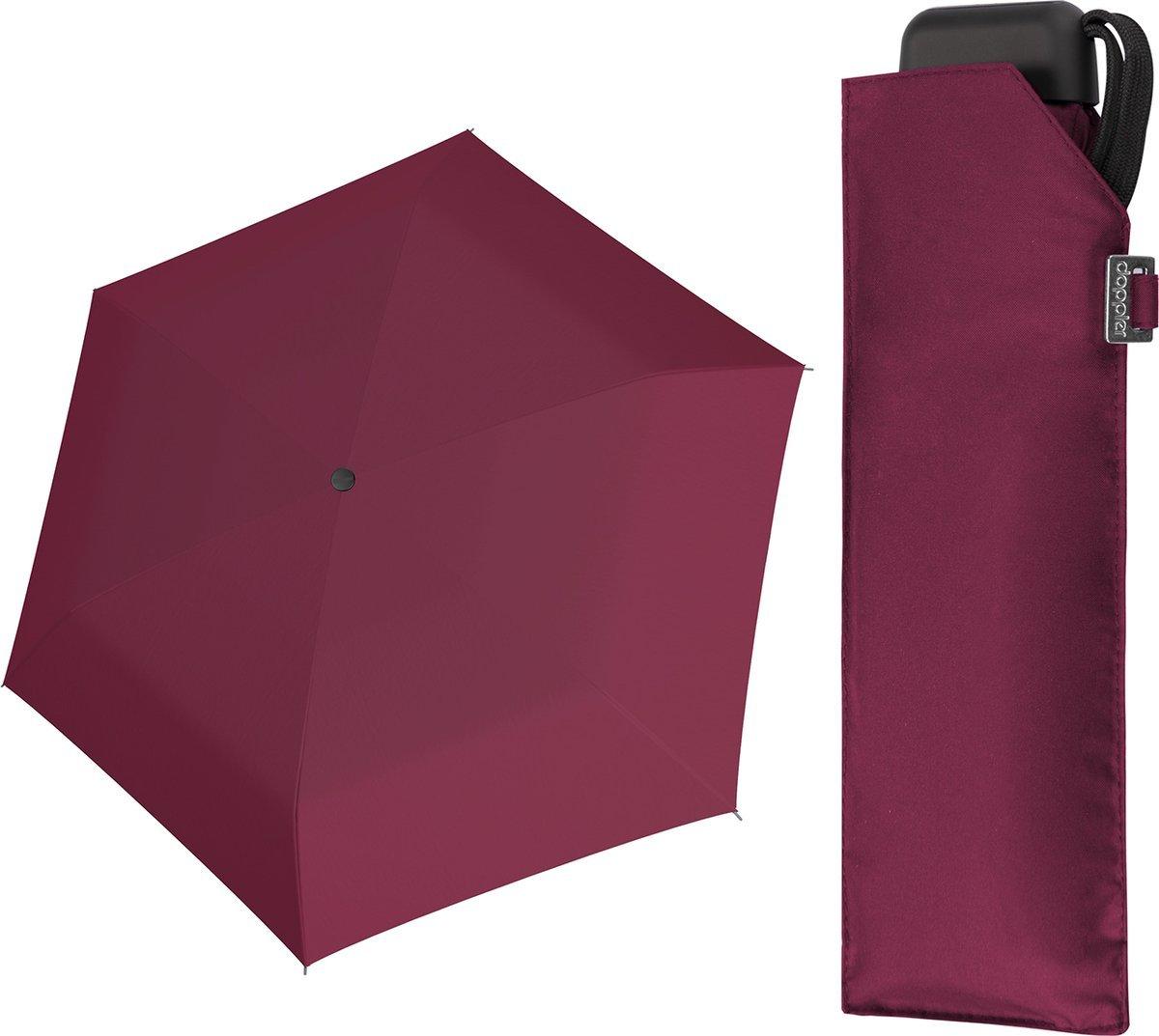 Parasol kieszonkowy Carbonsteel Mini Slim Doppler bordowy
