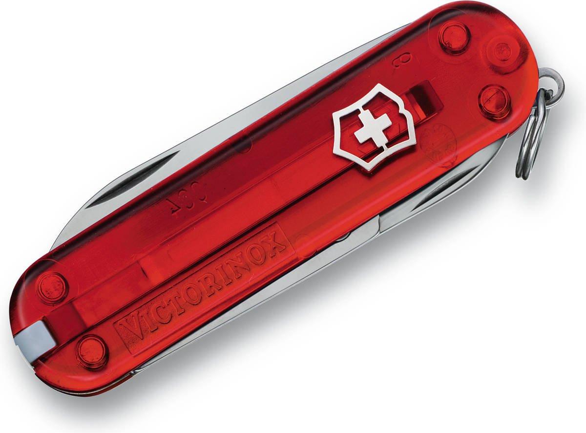 Scyzoryk Victorinox Classic SD czerwony przeźroczysty 0.6223.t