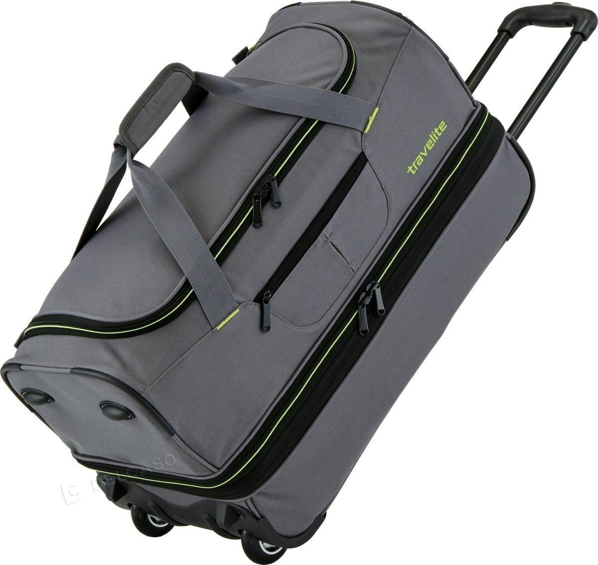Torba podróżna na kółkach Travelite Basics S 64L Szara