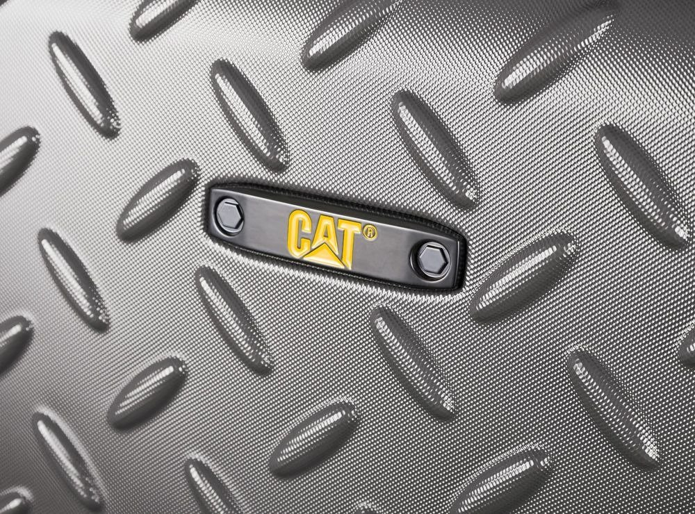 Walizka duża Cat Industrial Plate 74 cm szara