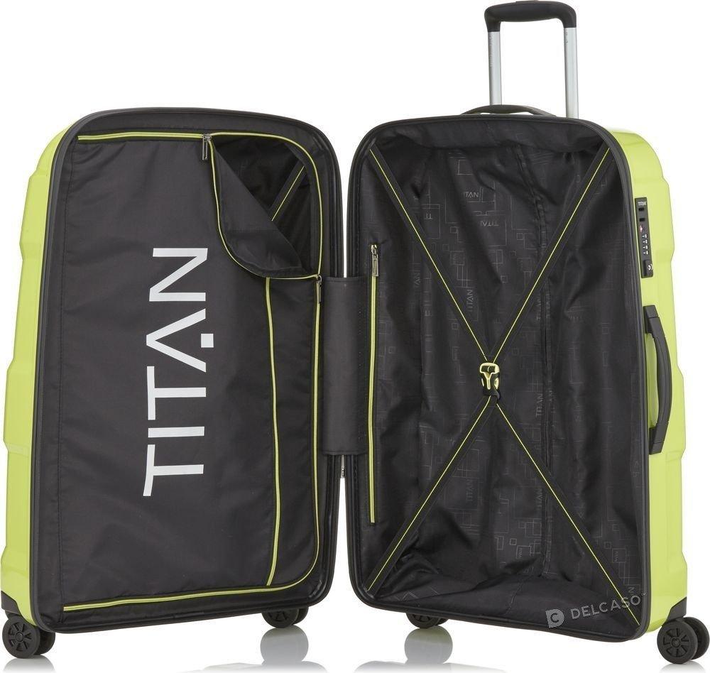 Walizka duża Titan X2 Flash 76 cm limonkowa