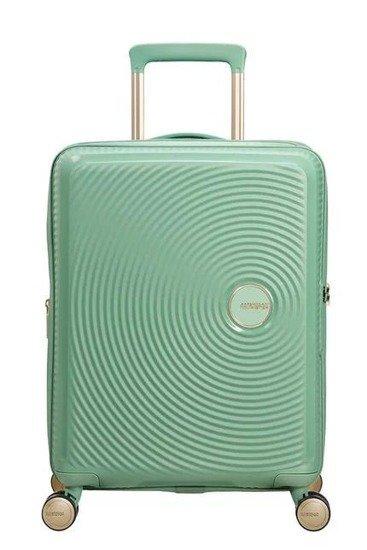 Walizka kabinowa American Tourister Soundbox 55 cm powiększana jasno zielona