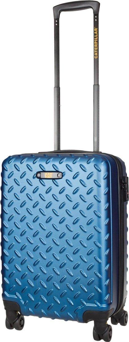 Walizka kabinowa Cat Caterpillar Industrial Plate 55 cm mała niebieska