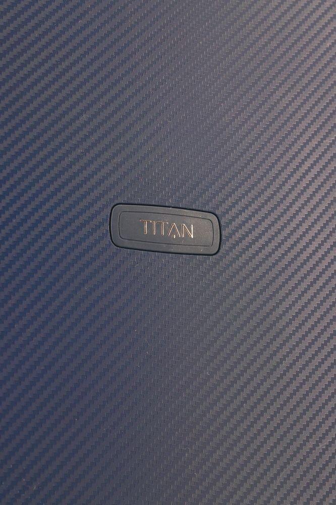 Walizka kabinowa Titan Compax 55 cm mała granatowa z USB
