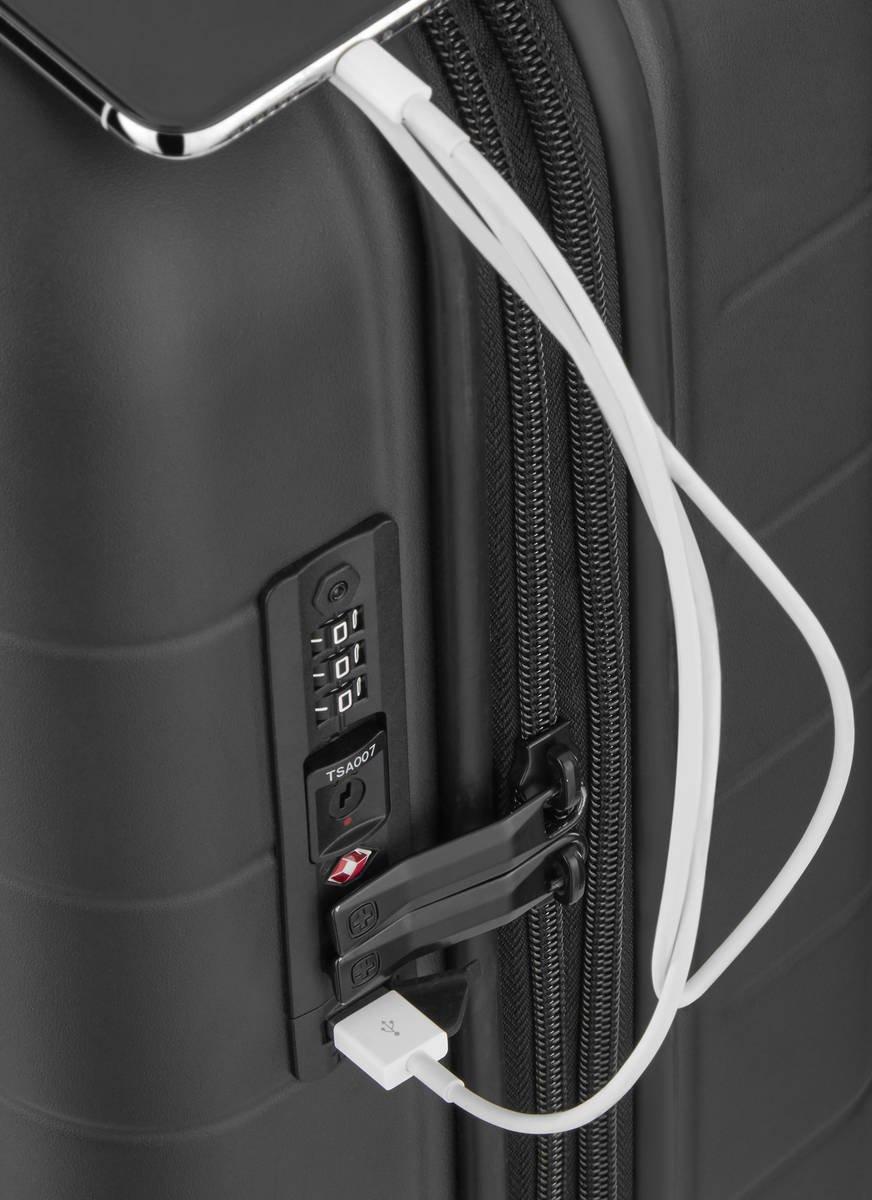 Walizka kabinowa - biznesowa poszerzana Wenger Syntry 55 cm mała czarna