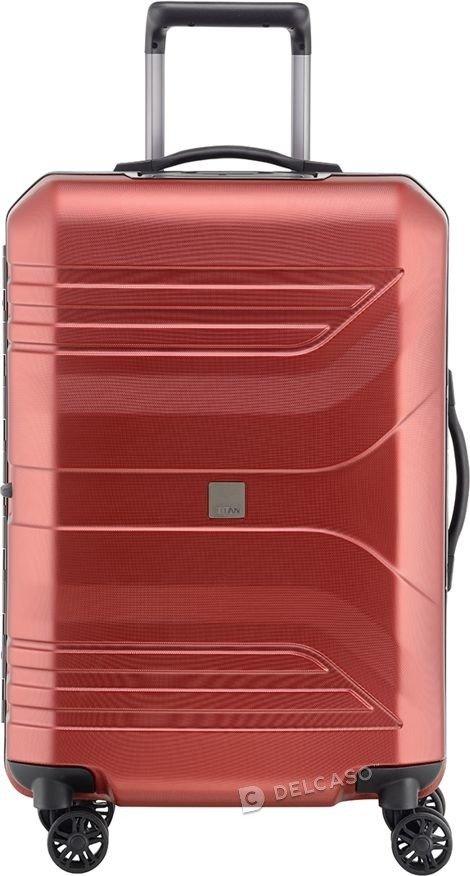 Walizka średnia Prior Smart Skin 69 cm czerwona