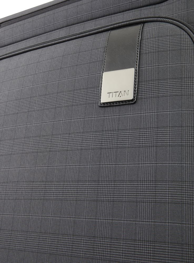Walizka średnia - poszerzana Titan CEO 68 cm antracytowa