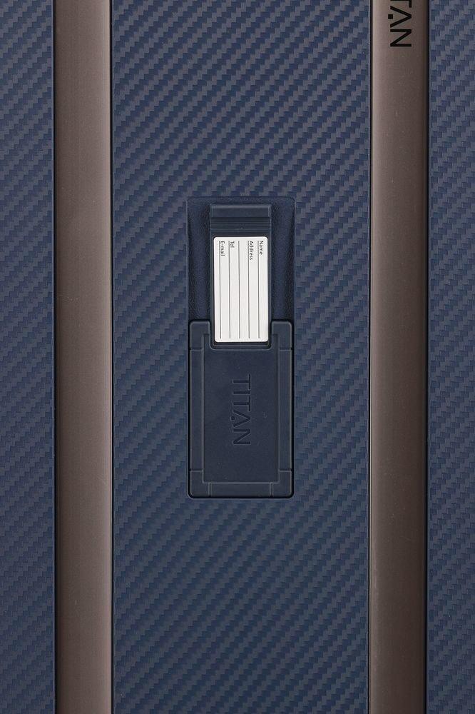 Walizka średnia - poszerzana Titan Compax granatowa