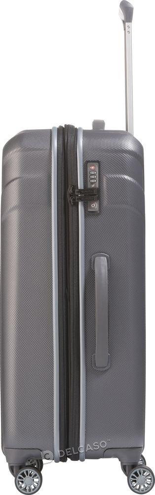 Walizka średnia poszerzana Travelite Vector 70 cm antracytowa