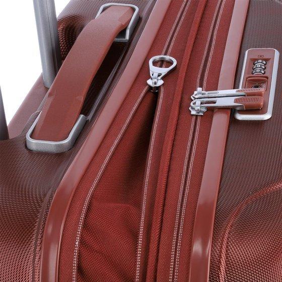 Walizka średnia - poszerzana Travelite Elbe 66 cm czerwona